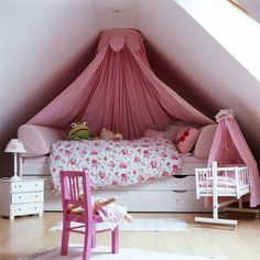 for an attic play space--lower to the ground reading/relaxing area
