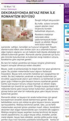 Romantik ev gazetede