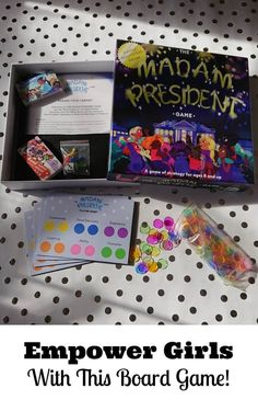 I am happy to partner with The Madam President Game because this fun new board game teaches about skills and experiences needed to become the President of the United States and empowers girls to picture themselves getting there! Single Parenting, Good Parenting, Parenting Hacks, Madam President, Activities For Girls, Girl Empowerment, Smart Girls, Inspiration For Kids, New Parents