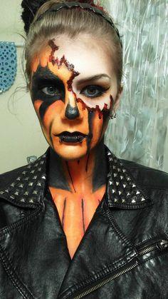 Pumpkin Makeup :Halloween Makeup: by CharlieLovesGaara.deviantart.com on @DeviantArt
