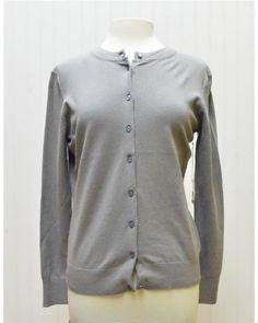 Button Up Grey Cardigan by Allez Faire