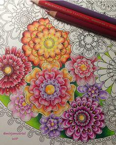 Art by @mirjamoertel Boa tarde colorideiras do meu jardim encantado!!!! Que vocês tenham um domingo bem florido e colorido como este colorido maravilhoso!!!!! ❤☄❤❤ #colorindomeujardimencantado #hiddenparadisecoloringbook #LoveIn30Languages #mycreativeescape #mandala #johannabasford #secretgarden #FlorestaEncantada #enchantedforest #adultcoloringbook #jardimdosbroder #fabercastell #maped #staedtler #mapedcolorpeps #fabe...
