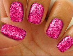 Dazzling Glitter Party Nails