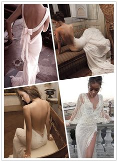 Beautiful Bridals and Sexy Wedding Dresses- I love the top right and bottom left! Yes please.