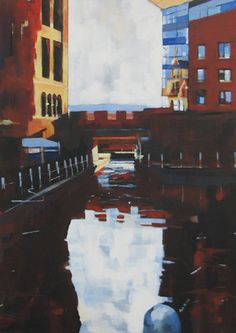 Bridgewater Canal 1 Manchester 40x60cm Acrylic on canvas Rob Miller Lancashire artist