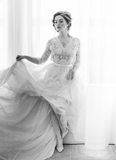 Romantic Film Bridal Portrait Session Dreamy Photography, Editorial Photography, Wedding Photography, Romantic Films, White Backdrop, Bridal Session, Bridal Portraits, One Shoulder Wedding Dress, Wedding Hairstyles