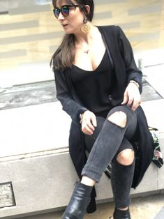 #moda #kimono #negro #fashion #tendencias Cold Shoulder Dress, Dresses, Women, Fashion, Kimonos, Unique Clothing, Vestidos, Moda, Fashion Styles