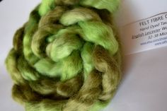 Wool Roving English Leicester Combed Wool Tops Rare Breed Tasmanian Grown Spinning Felting Needle Felting Weaving Green Mix 100g 11999 by