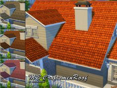 The Sims Resource: MB - CraftsmenRoof by matomibotaki • Sims 4 Downloads