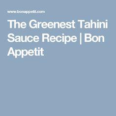 recipe: greenest tahini sauce [31]