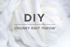 Chunk Knit Throw - Perfect DIY project for winter nights, this could be a great Christmas gift.