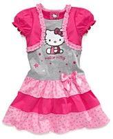 Hello Kitty Dress, Little Girls Printed Shrug Dress