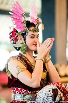Great head dress! Javanese Dancer- Indonesia