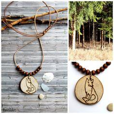 Fox wood necklace  from Ranitasart  Etsyshop (10% discount coupon PIN10)