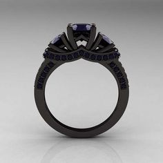 Tradition-Breaking Rings - This Black Engagement Ring is a Distinct Change from the Norm