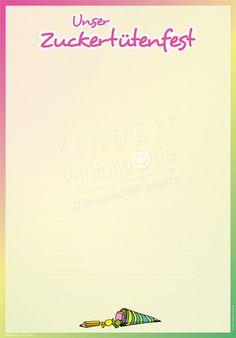 """Kindergarten Portfolio Vorlagen """"Unser Zuckertütenfest"""""""