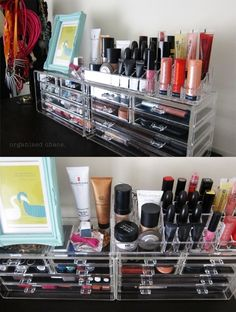 Make up organization!! (Now I just need all of this makeup to magically appear from the sky.)