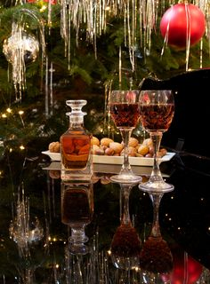 Typical scene at The Grand Hotel during Christmas.