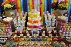 festa de são joão, festa junina, decoração festa junina; arco-iris, festa criativa, aniversário, arco-iris, rainbown party