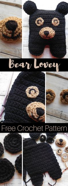 Smoky Mountain Bear Lovey is the perfect crochet gift for a toddler or 'woodland critter' themed nursery. The pattern is free and includes step-by-step instructions and photos. #crochet #crochetpattern #freecrochetpattern #bear #smokymountain #lovey