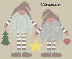Stickeules Freebies: Weihnachten Cross Stitch Charts, Cross Stitch Patterns, Cross Stitching, Cross Stitch Embroidery, Beaded Animals, Noel Christmas, Needlepoint, Needlework, Chrochet