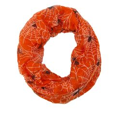 David & Young Women's Spider Web Halloween Holiday Infinity Loop Scarf