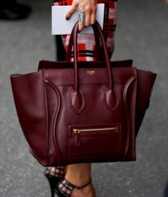 Stylish & chic oxblood Celine handbag