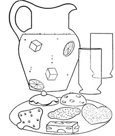 the chocolate cookie with lemonade coloring pages cookie coloring pages kidsdrawing free coloring