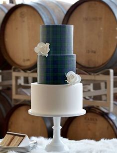 7 Plaid and Tartan Wedding Cakes That are Perfect for Your Winter Wedding: Tartan Tiers Wedding Cake Designs, Wedding Cake Toppers, Wedding Ideas, Wedding Details, Wedding Stuff, Wedding Planning, Scottish Wedding Cakes, Scottish Weddings, Scottish Elopement