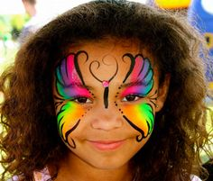 Rainbow Butterfly by Fairys and Frogs Face Painting Parties & Events Collierville 38017