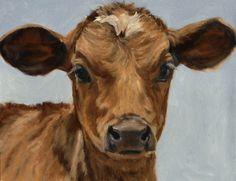 "Denise Rich Artist   Denise Rich » New Work Baby Calf ""Bright Eyes"""