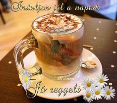 Good Morning Gif, Moscow Mule Mugs, Tea Cups, Stuffed Mushrooms, Coffee, Tableware, Mornings, Humor, Gifts