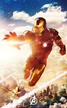 Iron Man by Mat Guillen Designs // http://www.matguillendesigns.com/