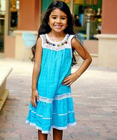 Look what I found on #zulily! Cyan Lucila Yoke Dress - Infant, Toddler