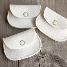 mini felt coin purse - two pieces, minimal sewing, snap closure