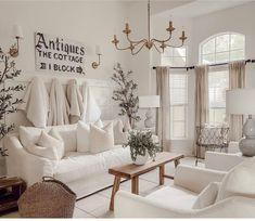 How to Style Your Cozy White Cottage Seasons Freebie - Liz Marie Blog Farmhouse Livingrooms, Cottage, Love Your Home, Instagram Repost, Kitchen Decor, Antiques, Home Decor, Antiquities, Antique