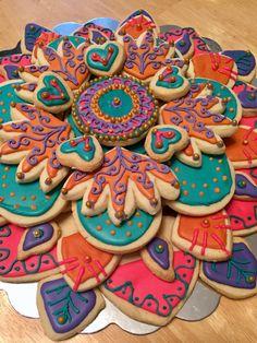 Indian cookie platter
