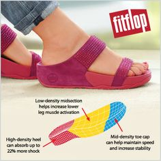 Meet the FitFlop Flare Slide Sandal. It's Microwobbleboard™ midsole does wonders for the feet!