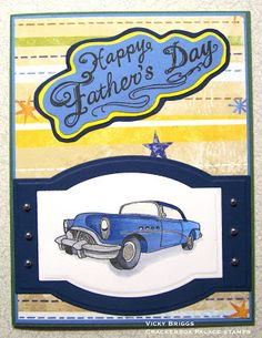 Crackerbox Palace rubber stamp Blog: Father's Day Card