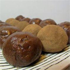 High Protein Peanut Butter Balls - peanut butter, protein powder, banana, flax seed