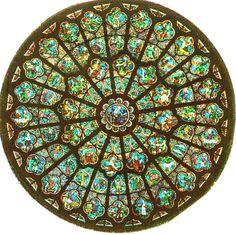 Paris; Notre Dame Rose Window