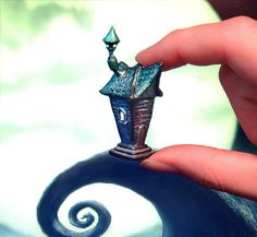 Polymer clay Tim Burton inspired house miniature by UraniaArt,
