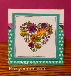 Roxybonds Close To My Heart:  Blooming Heart Card | CTMH Confetti Wishes