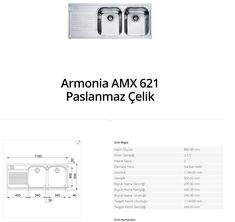 Armonia AMX 621 Paslanmaz Çelik franke   franke Armonia AMX 621 Paslanmaz Çelik