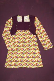 LS Vest Dress | Bird Print
