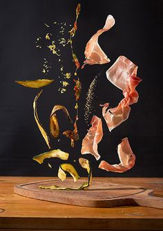 Nora Luther Photographs Recipes As Dynamic, Floating Ingredients
