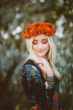 ✩ Flower Child Summer Time☽ ✩ Save 25% off all orders with code PINTERESTXO at checkout with Lady Scorpio | Kaitlyn Johnson Blonde Wearing Free People Dress | Crystal Wrap Bracelets Shop LadyScorpio101.com @LadyScorpio101 | Photography by Ashley Swenson | Red Flower Crown: @BrushFireFloral | Hair Makeup: @Rach.KissNMakeup
