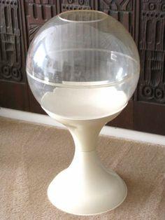 MID CENTURY MODERN SPACE AGE TERRARIUM PLANTER 1970S PLASTIC PANTON EAMES. Sold on eBay for $300  Mar. 2014. www.SnapPost.com