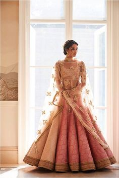 So pretty and sweet. Looks like a doll in pink Pose In Gorgeous Tarun Tahiliani Couture: WMG Red Carpet Bride Shoot in Delhi Indian Bridal Outfits, Indian Bridal Fashion, Indian Dresses, Bridal Dresses, Indian Bridal Wear, Indian Clothes, Indian Wedding Clothes, Indian Wear, Best Indian Wedding Dresses