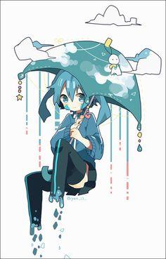 Ene in the rain: